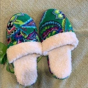Vera Bradley fleece slippers